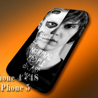 Plastic/Silicone - TATEVAN Tate Langdon Evan Peters American Horror Story - Design Print Case for iPhone 4,4s,5,5s,5c and Samsung S2,S3,S4