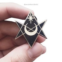 HOME :: Pins & Patches :: LAPEL PINS :: Unicursal Hexagram Lapel Pin