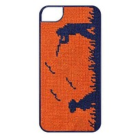 Bird Hunter Needlepoint iPhone 6 Case in Orange by Smathers & Branson