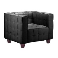 Zuo Modern Button Arm Chair in Black