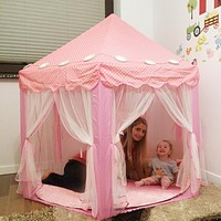 Portable Children's Tent For Kids Toy Princess Castle Play House Wigwam for Girls or Boys Foldable Playtent Baby Beach Tents