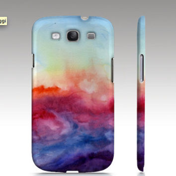 Samsung Galaxy S3 case, Galaxy S4 case, watercolor design, abstract painting, art for your phone