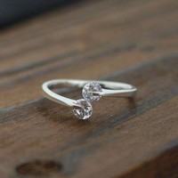 Studed Sterling Silver Ring