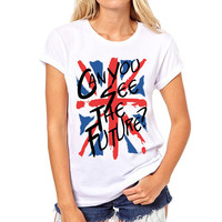 British Flag Letters Printed T-Shirt