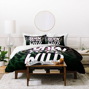 Leah Flores Born To Be Wild Duvet Cover
