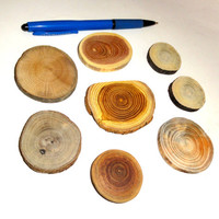 Jewelry Findings Wood slices discs, natural wooden texture, colors. Jewelry supplies, jewelry making parts, rustic weddings, jewelry crafts