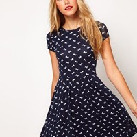 ASOS Skater Dress In Horse Print at asos.com