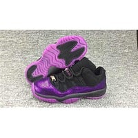 Air Jordan 11 Retro Purple Flaw Basketball Shoe
