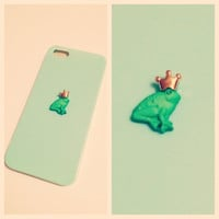 Prince Charming Green Frog Case iPhone 5 by LivingYoungDesigns