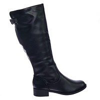 Court Fashion Riding Boots w Low Block Heel