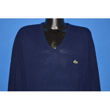 80s Blue Izod Lacoste Pullover Sweater Medium