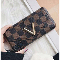 LV 2017 Hot ! iPhone 7 iPhone 7 plus - Stylish Cute On Sale Hot Deal Matte Couple Phone Case For iphone 6 6s 6plus 6s plus  Coffee Tartan