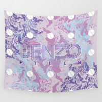 Benzo Pills Wall Tapestry by Chobopop