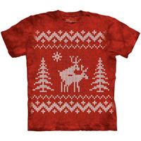 REINDEER STYLE The Mountain Funny Ugly Christmas Sweater Party T-Shirt S-3XL NEW