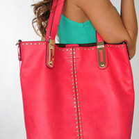 Bright And Early Purse: Raspberry