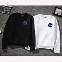 NASA Young Men and Women Sweatshirts Junior Sports NASA Hoodies Capless Sweatshirts