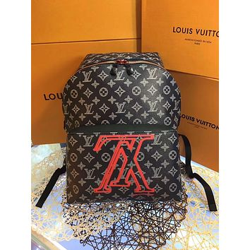 LV Louis Vuitton OFFICE QUALITY MEN'S MONOGRAM CANVAS APOLLO BACKPACK BAG