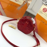 Kuyou Gb2981 M44699 Louis Vuitton Lv Monogram Small Leather Goods All Collections Mini Boite Chapeau Red Bag 13.0x 12.0x 6.5 Cm