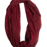 Floral Lace Eternity Scarf | Wet Seal
