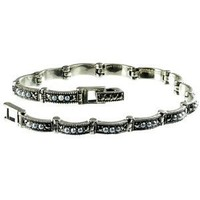"""Crescent Link Silver Natural Seed Pearl Bracelet (7"""") - Dahlia Vintage Collection: Jewelry: Amazon.com"""