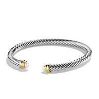 Cable Classics Bracelet with Pearls and Gold - David Yurman