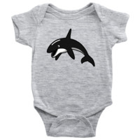 Living You Co. Killer Whale Onesuit | Orca Onesuit, Killer Whale Baby Onesuit, Orca Baby Onesuit | Keep Your Baby Warm and Comfy | Newborn, 6M, 12M, 18M, 24M | 100% Cotton