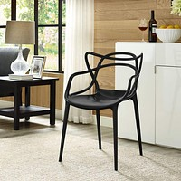 Black Entangled Dining Armchair