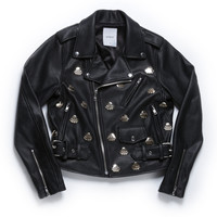 UFO STUD MOTOR JACKET WOMEN / BLACK