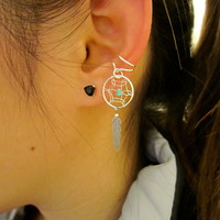 Dreamcatcher ear cuff
