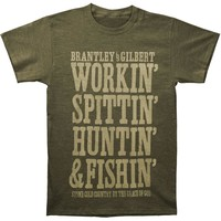 Brantley Gilbert Men's  Stone Cold Country T-shirt Military