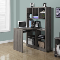 Dark Taupe Reclaimed-Look Left/Right Facing Corner Desk