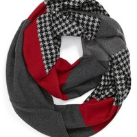 Chelsey Houndstooth Colorblock Infinity Scarf | Nordstrom