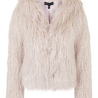 **Faux Fur Hooded Coat By Kendall + Kylie at Topshop - Topshop