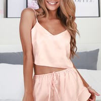Keeping Secrets two piece set in blush Produced By SHOWPO