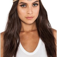 8 Other Reasons Dreamer Head Piece in Metallic Gold