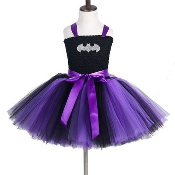 Girls Tulle Tutu Dress Batman Kids Birthday Party / 2 color choices / sizes 2T-14