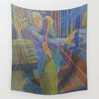 J in the dragon house Wall Tapestry by Bachmors