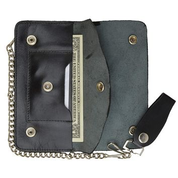 Trucker Genuine Leather Large Chain Wallet 646SM (C)
