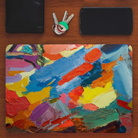 macbook pro decal rubberized front hard cover for apple mac macbook air pro 11 12 13 15 rainbow abstract canvas painting
