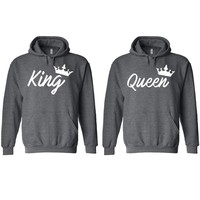 Handwrite King and Queen Charcoal Hoodie
