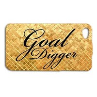 Pretty Goal Digger Apple Phone Case Cute Gold Cover iPhone Funny Quote Cool Fun