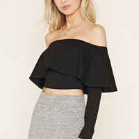 Textured Perforated Crop Top | Forever 21 - 2000187187