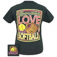 Girlie Girl Originals Preppy Love And Softball T-Shirt