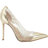 Metallic Glitter Pointed Toe Pump