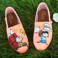 Charlie Brown Peanuts Original Custom Acrylic Painting for Toms/Canvas Shoes