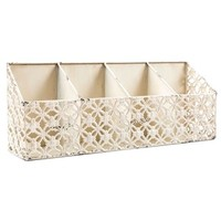 Distressed White Iron Wall Shelf with 4-Slots | Shop Hobby Lobby