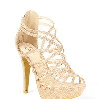Champagne Perfection Caged Heels
