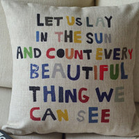 Colorful Quote Decorative Pillow on Luulla