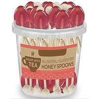 50 Individually Wrapped Pomegranate Honey Naturally Flavored Tea Spoons