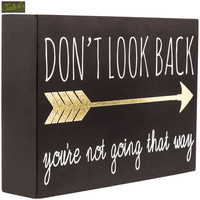 Don't Look Back Wood Sign | Hobby Lobby | 1190115